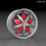 Custom car wheel/ Vehicle rim & parts 12 3d model