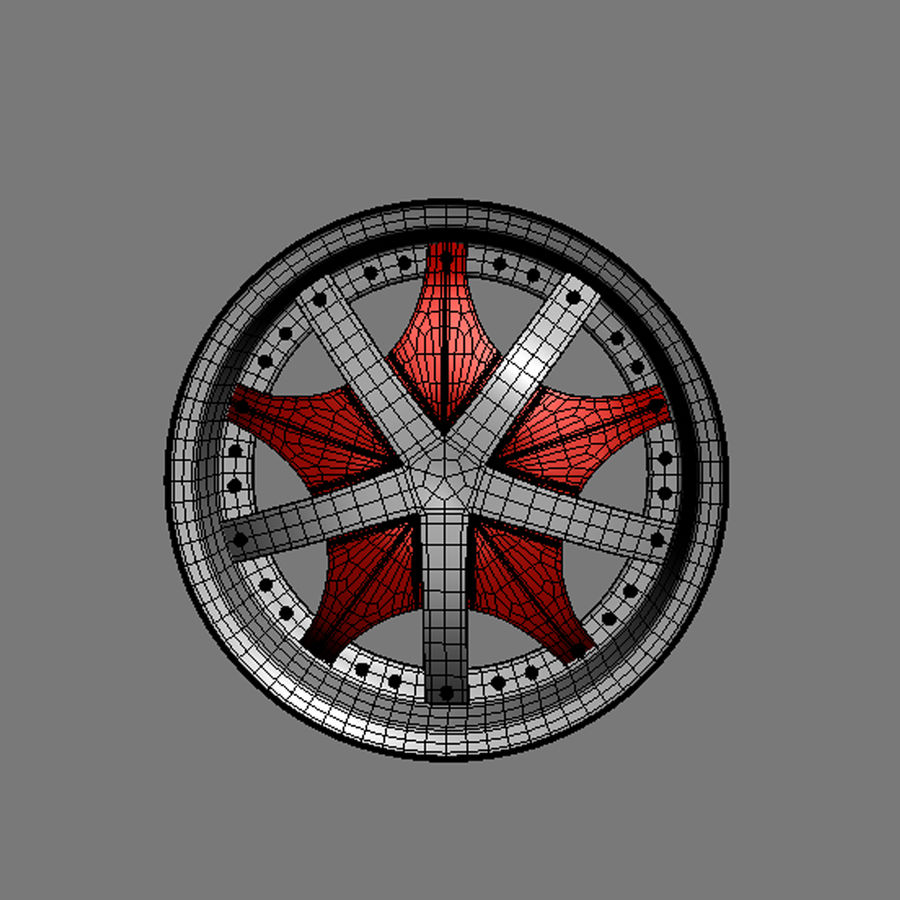 Custom car wheel/ Vehicle rim & parts 12 royalty-free 3d model - Preview no. 8