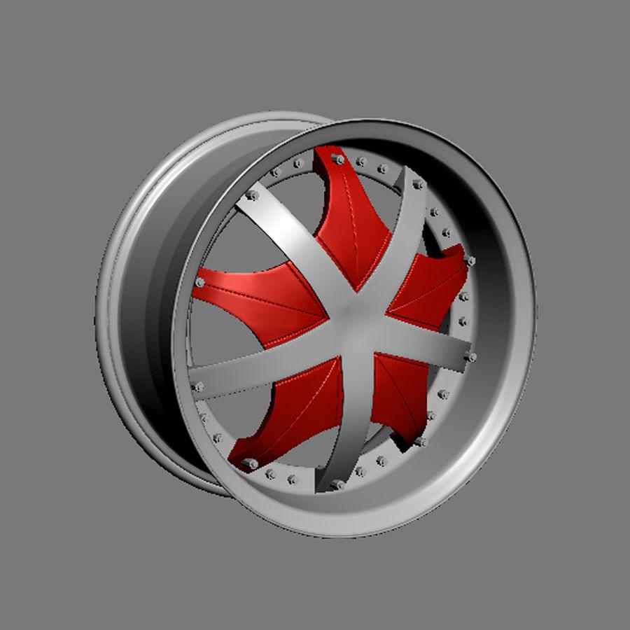 Custom car wheel/ Vehicle rim & parts 12 royalty-free 3d model - Preview no. 3
