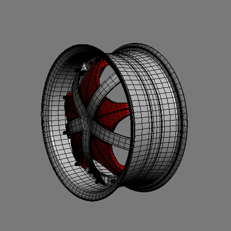 Custom car wheel/ Vehicle rim & parts 12 royalty-free 3d model - Preview no. 6