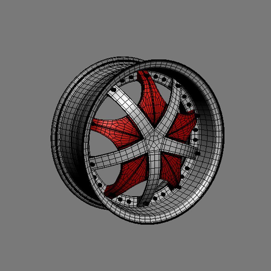 Custom car wheel/ Vehicle rim & parts 12 royalty-free 3d model - Preview no. 4