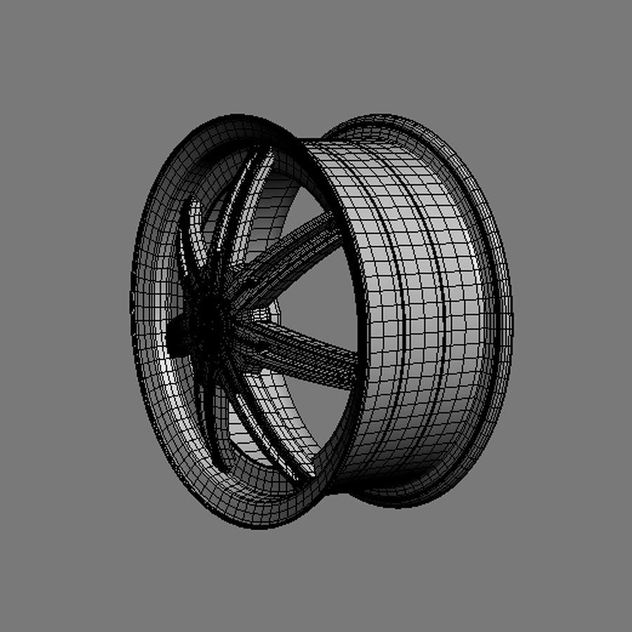 Custom car wheel/ Vehicle rim & parts rim 13 royalty-free 3d model - Preview no. 6