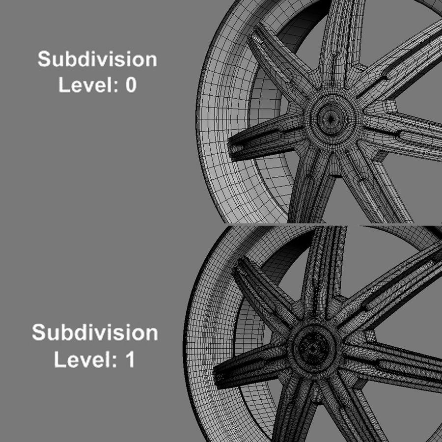 Custom car wheel/ Vehicle rim & parts rim 13 royalty-free 3d model - Preview no. 2