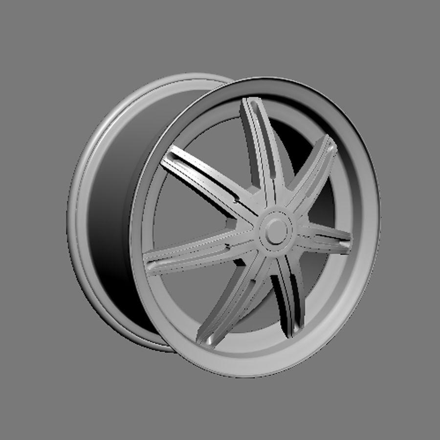 Custom car wheel/ Vehicle rim & parts rim 13 royalty-free 3d model - Preview no. 3