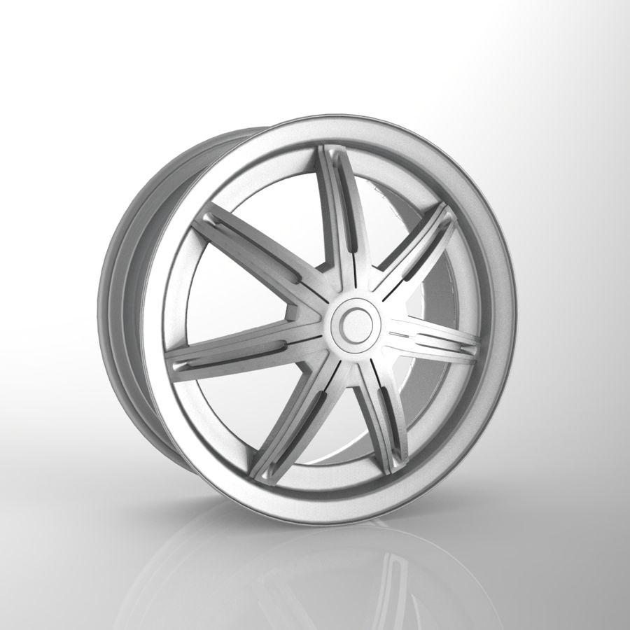 Custom car wheel/ Vehicle rim & parts rim 13 royalty-free 3d model - Preview no. 1