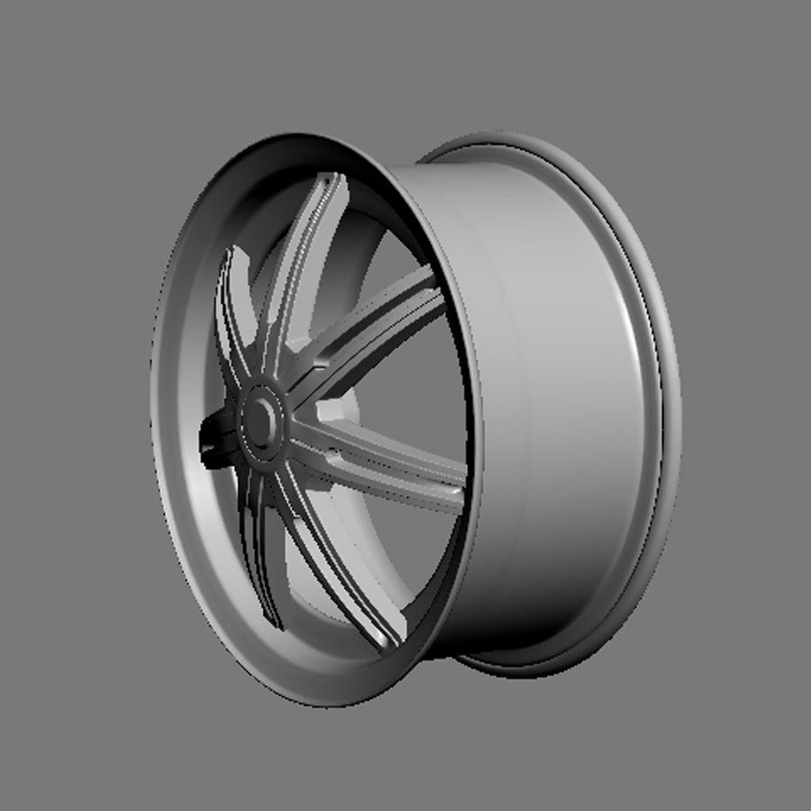 Custom car wheel/ Vehicle rim & parts rim 13 royalty-free 3d model - Preview no. 5