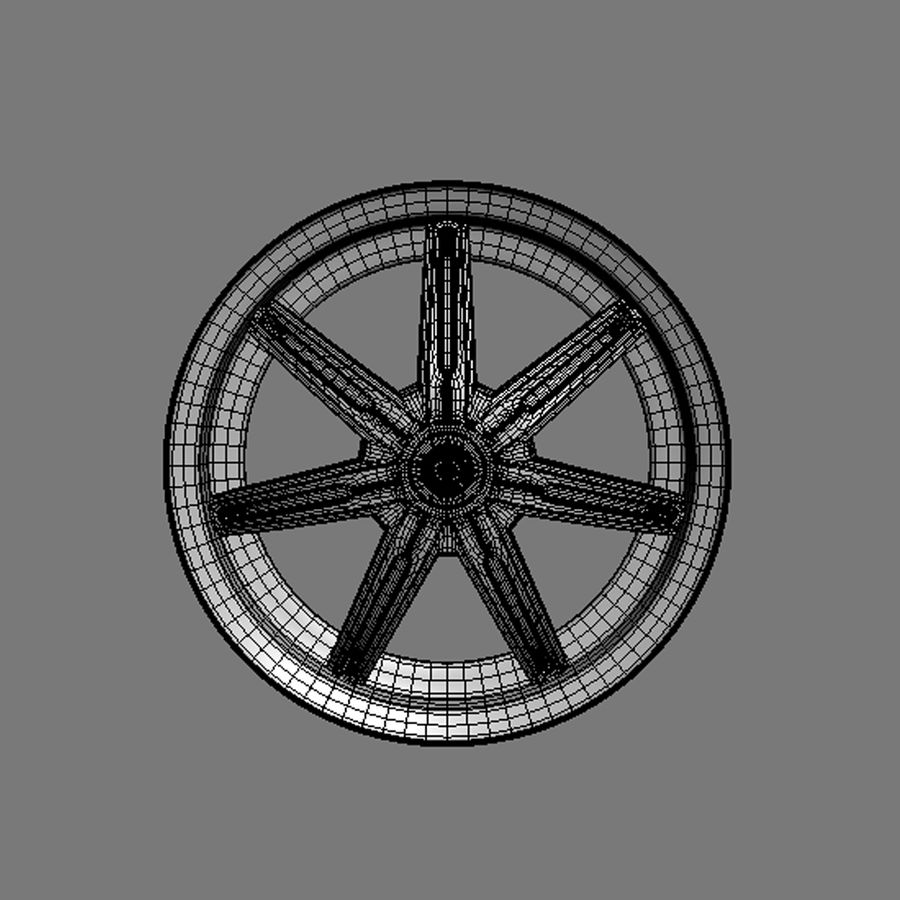Custom car wheel/ Vehicle rim & parts rim 13 royalty-free 3d model - Preview no. 8