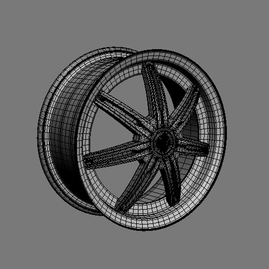 Custom car wheel/ Vehicle rim & parts rim 13 royalty-free 3d model - Preview no. 4