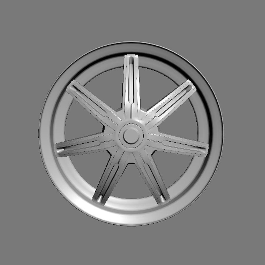 Custom car wheel/ Vehicle rim & parts rim 13 royalty-free 3d model - Preview no. 7