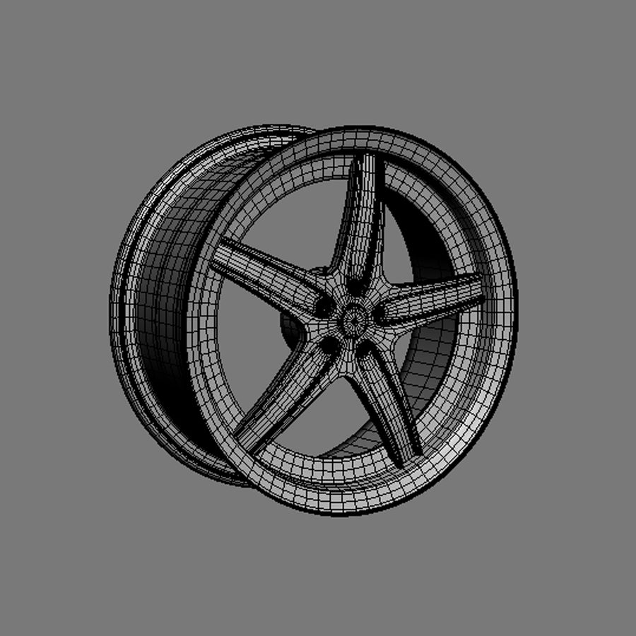 Custom car wheel/ Vehicle rim & parts 14 royalty-free 3d model - Preview no. 3
