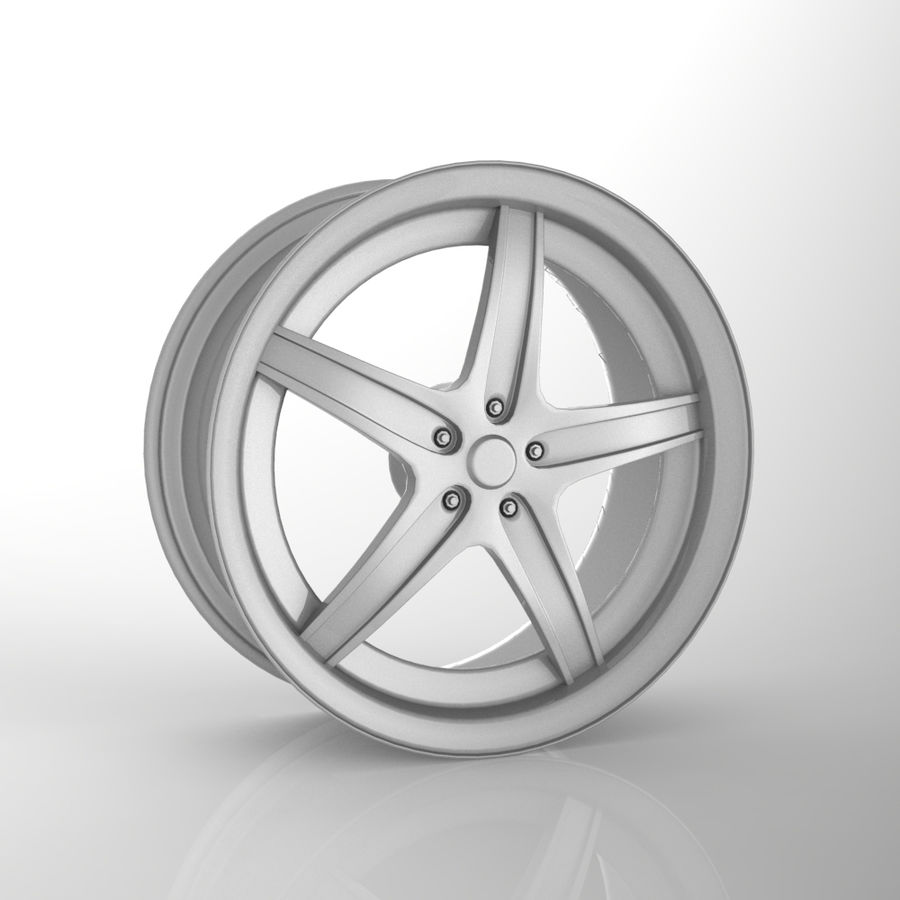 Custom car wheel/ Vehicle rim & parts 14 royalty-free 3d model - Preview no. 1