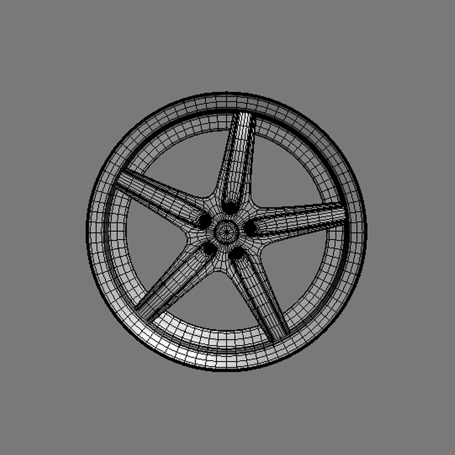 Custom car wheel/ Vehicle rim & parts 14 royalty-free 3d model - Preview no. 7