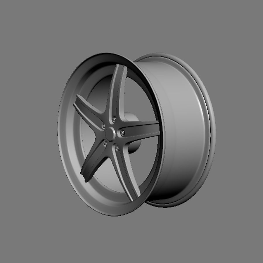 Custom car wheel/ Vehicle rim & parts 14 royalty-free 3d model - Preview no. 4