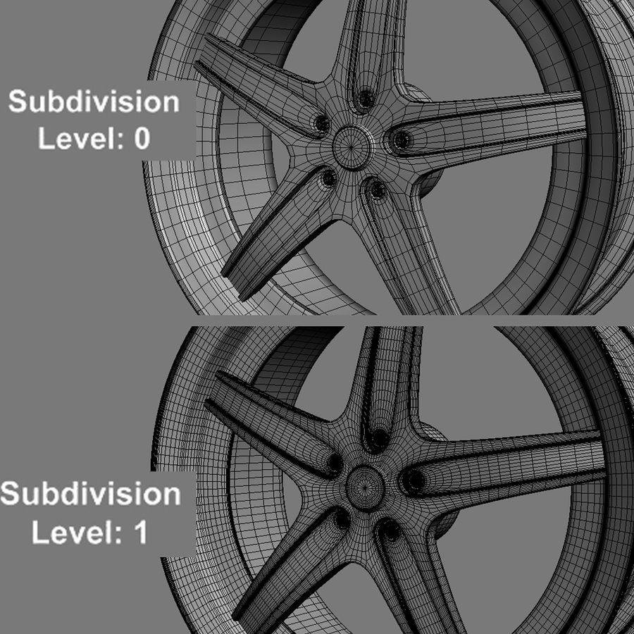 Custom car wheel/ Vehicle rim & parts 14 royalty-free 3d model - Preview no. 2