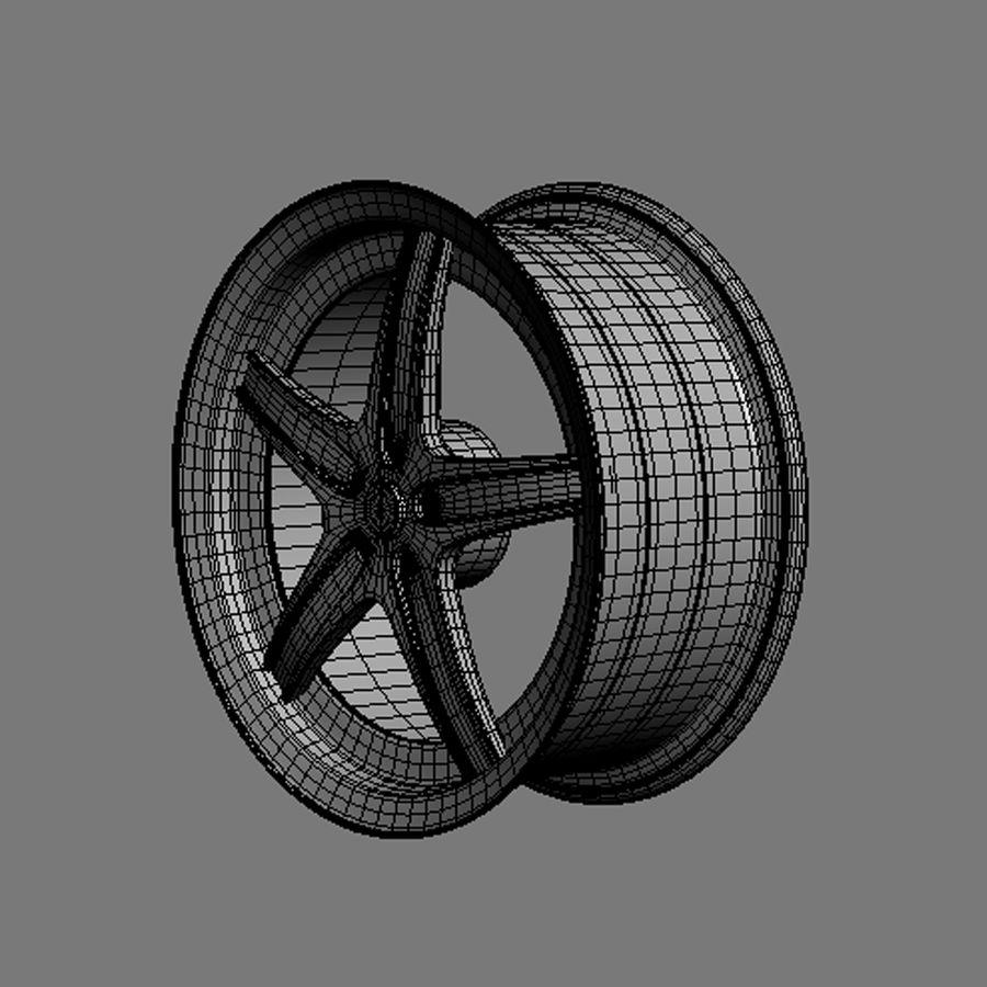 Custom car wheel/ Vehicle rim & parts 14 royalty-free 3d model - Preview no. 5