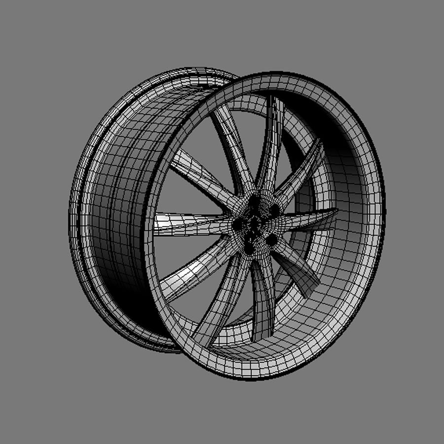 Custom car wheel/ Vehicle rim & parts rim 15 royalty-free 3d model - Preview no. 5