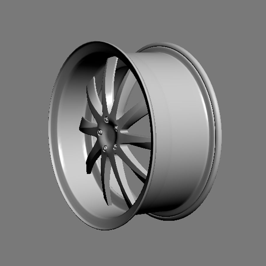 Custom car wheel/ Vehicle rim & parts rim 15 royalty-free 3d model - Preview no. 6