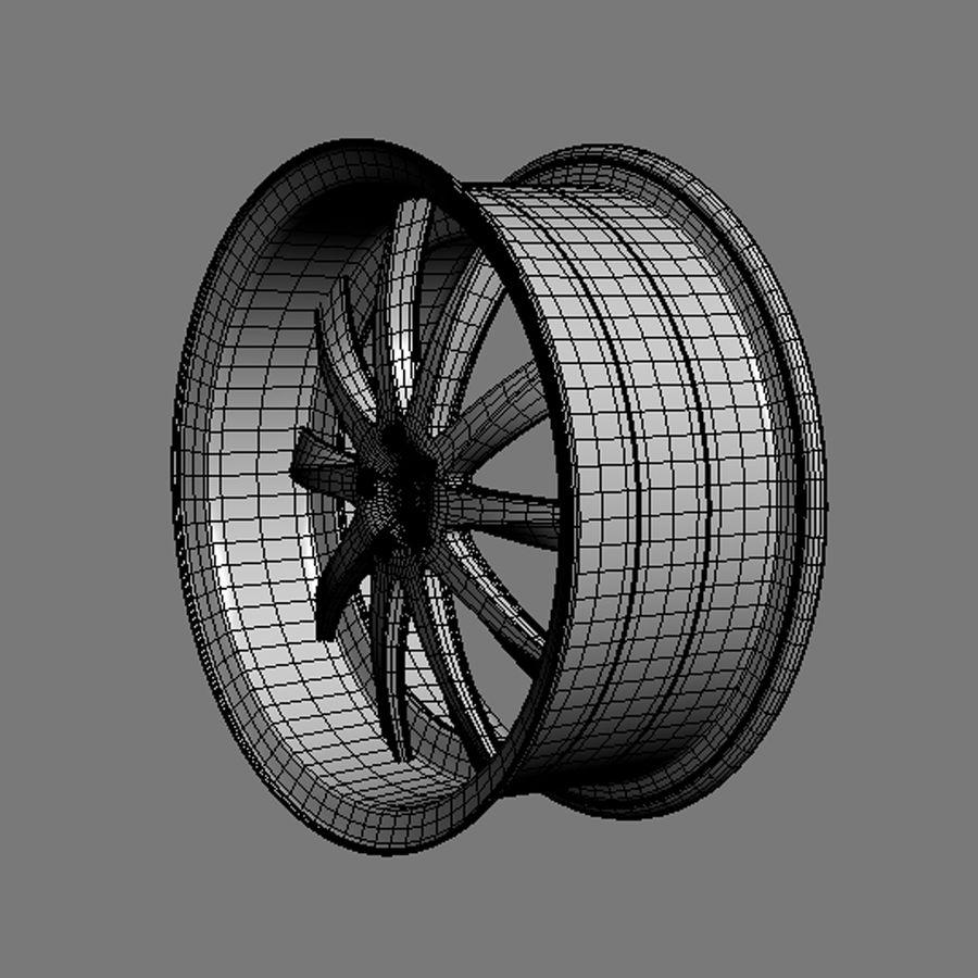 맞춤형 자동차 휠 / 차량 림 및 부품 림 15 royalty-free 3d model - Preview no. 7