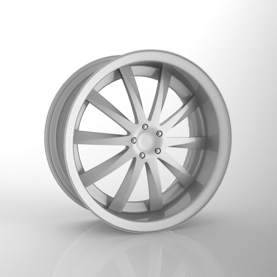 Rueda de coche personalizada / Llanta de vehículo y llanta de piezas 15 royalty-free modelo 3d - Preview no. 1