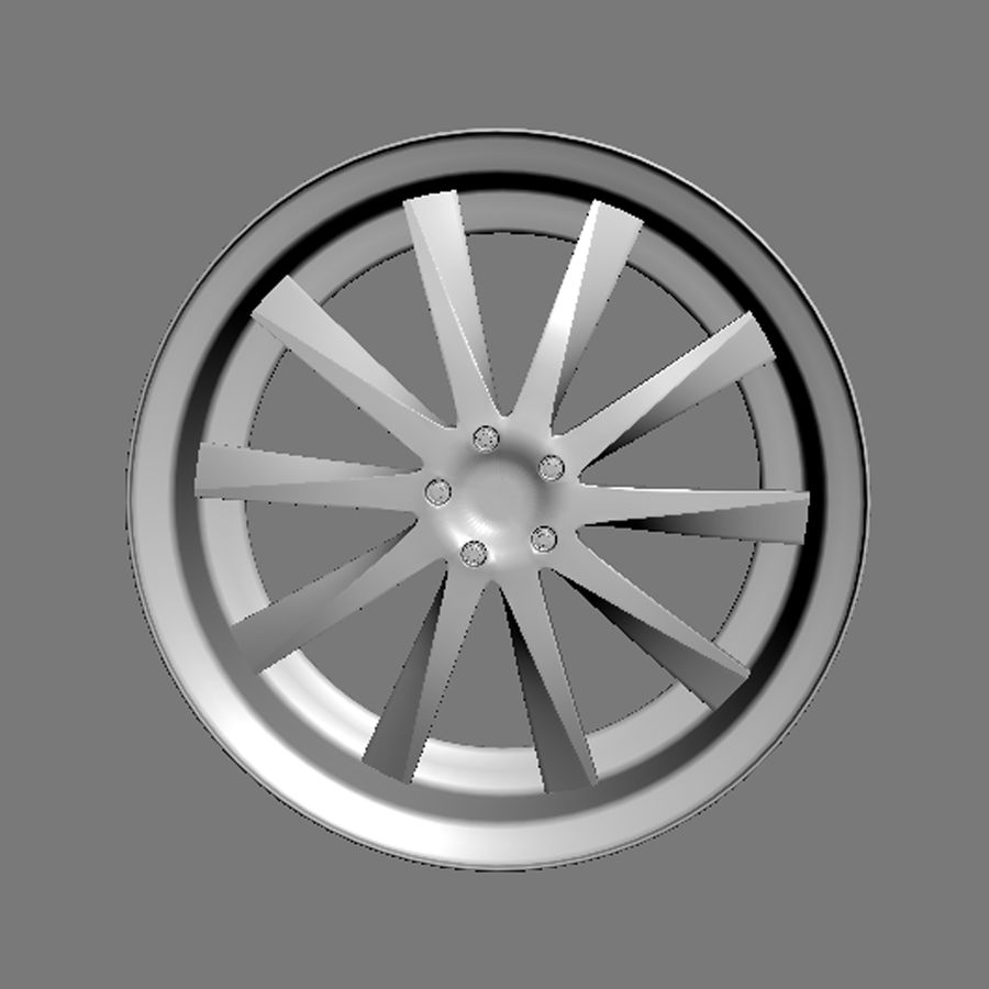 Custom car wheel/ Vehicle rim & parts rim 15 royalty-free 3d model - Preview no. 3