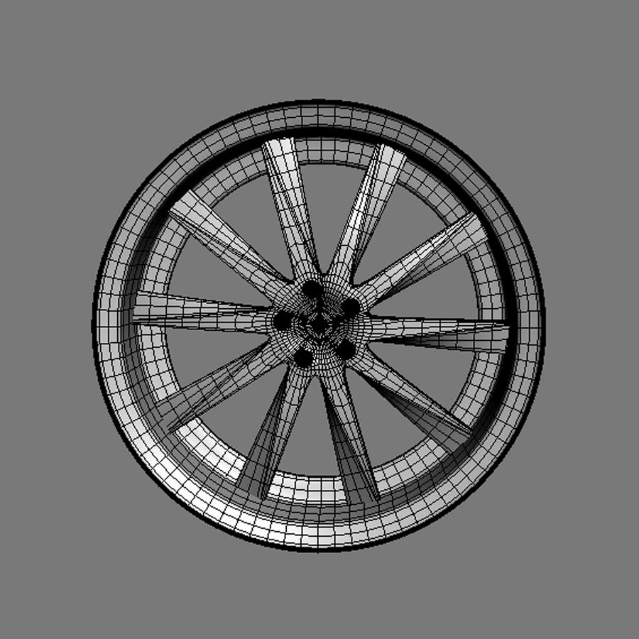 Custom car wheel/ Vehicle rim & parts rim 15 royalty-free 3d model - Preview no. 8
