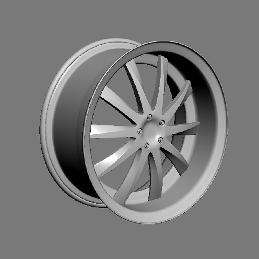 Custom car wheel/ Vehicle rim & parts rim 15 royalty-free 3d model - Preview no. 4