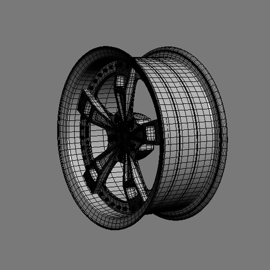 Custom car wheel/ Vehicle rim & parts rim 16 royalty-free 3d model - Preview no. 7