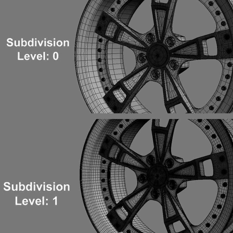 Custom car wheel/ Vehicle rim & parts rim 16 royalty-free 3d model - Preview no. 2