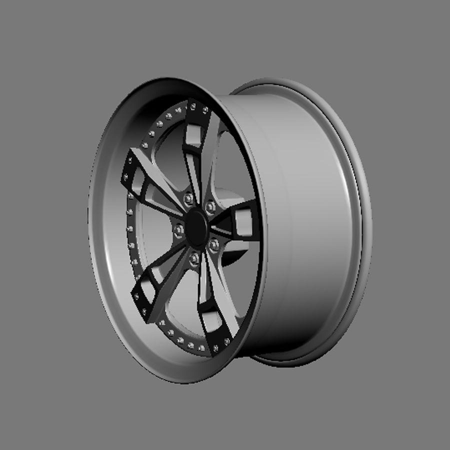 Custom car wheel/ Vehicle rim & parts rim 16 royalty-free 3d model - Preview no. 6