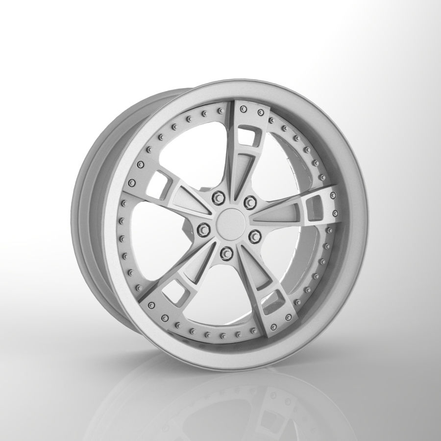 Custom car wheel/ Vehicle rim & parts rim 16 royalty-free 3d model - Preview no. 1