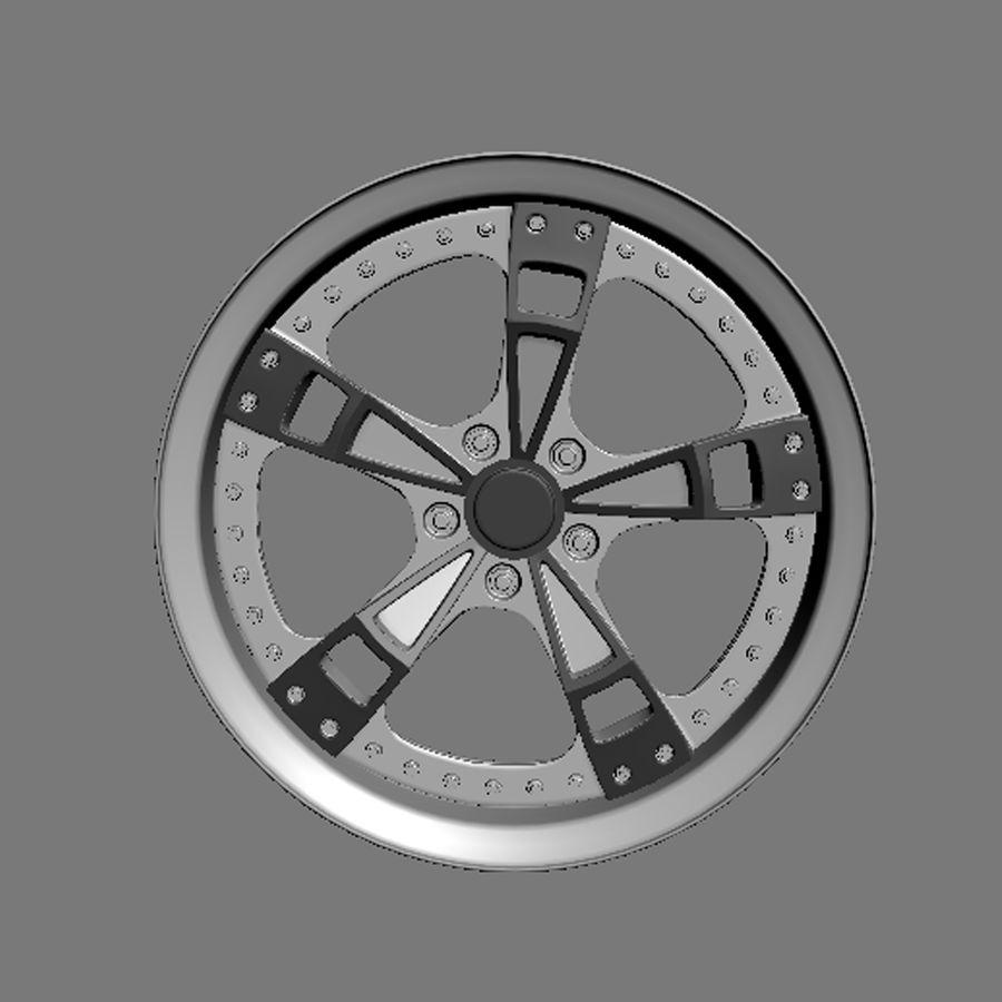 Custom car wheel/ Vehicle rim & parts rim 16 royalty-free 3d model - Preview no. 3