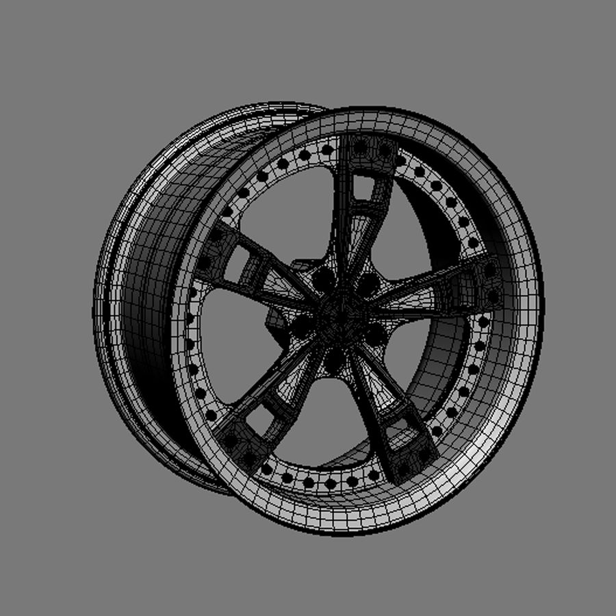 Custom car wheel/ Vehicle rim & parts rim 16 royalty-free 3d model - Preview no. 5