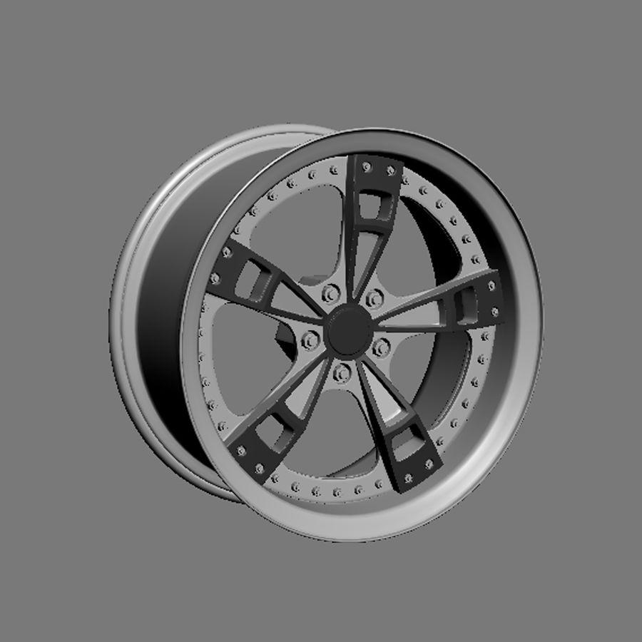 Custom car wheel/ Vehicle rim & parts rim 16 royalty-free 3d model - Preview no. 4