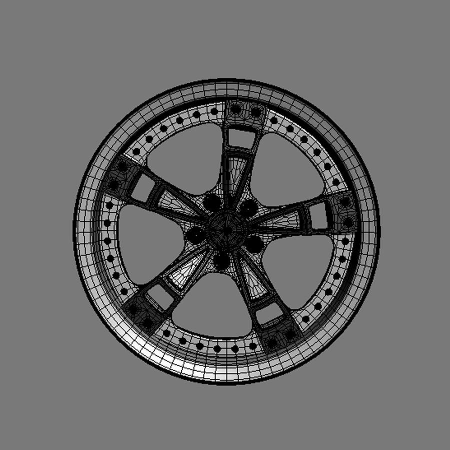 Custom car wheel/ Vehicle rim & parts rim 16 royalty-free 3d model - Preview no. 8