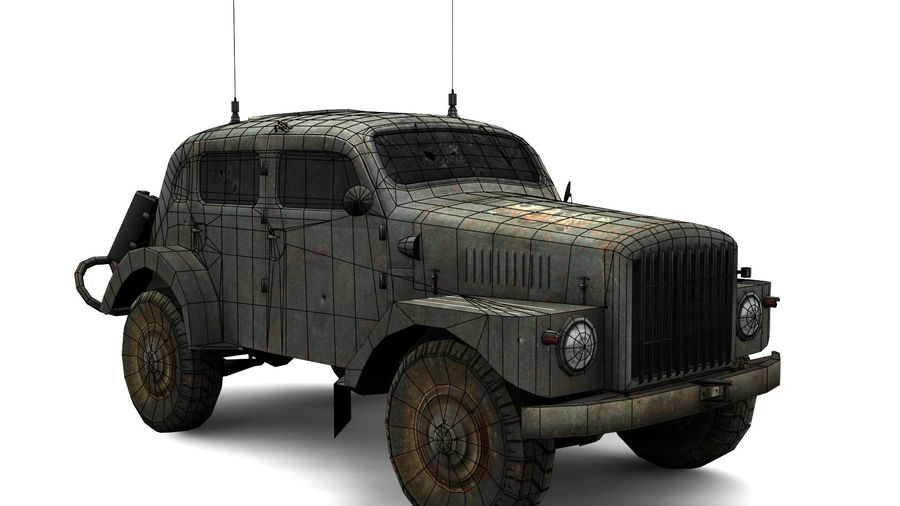 vehículo militar royalty-free modelo 3d - Preview no. 8