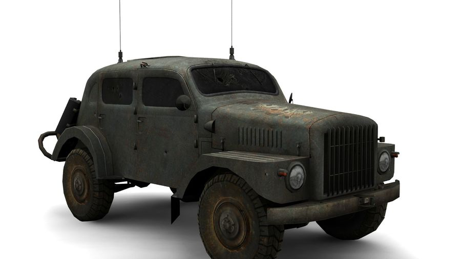vehículo militar royalty-free modelo 3d - Preview no. 7