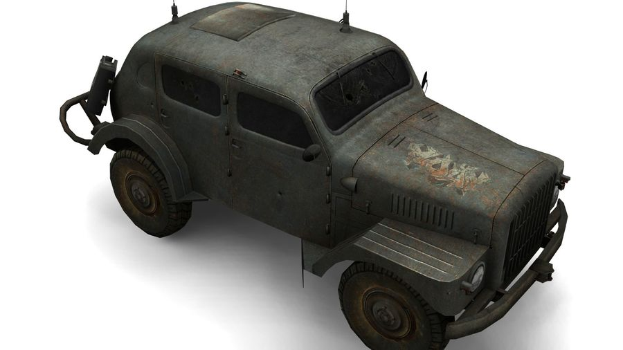 military vehicle royalty-free 3d model - Preview no. 2