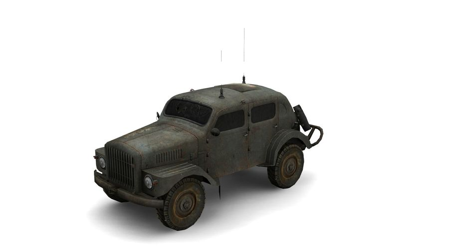 military vehicle royalty-free 3d model - Preview no. 5