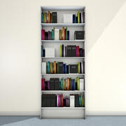 Bookshelf with books 3d model