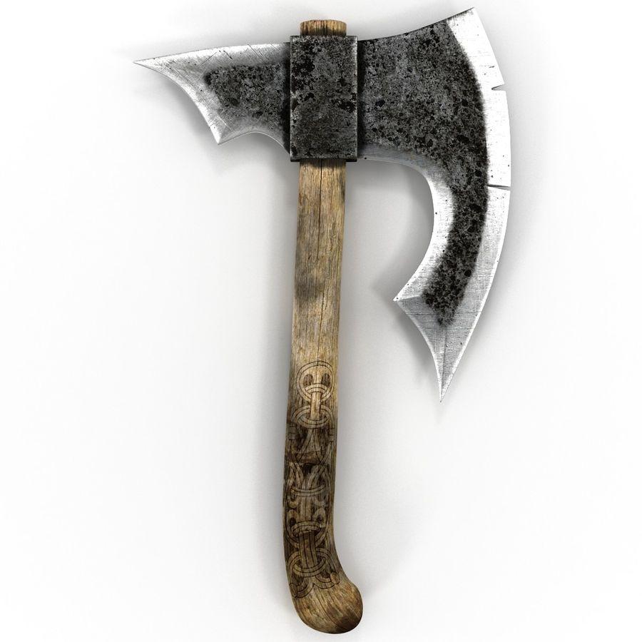 Battle Axe Modèle 3D royalty-free 3d model - Preview no. 6