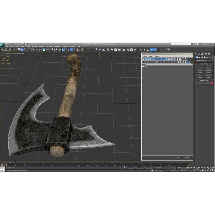 Battle Axe Modèle 3D royalty-free 3d model - Preview no. 20