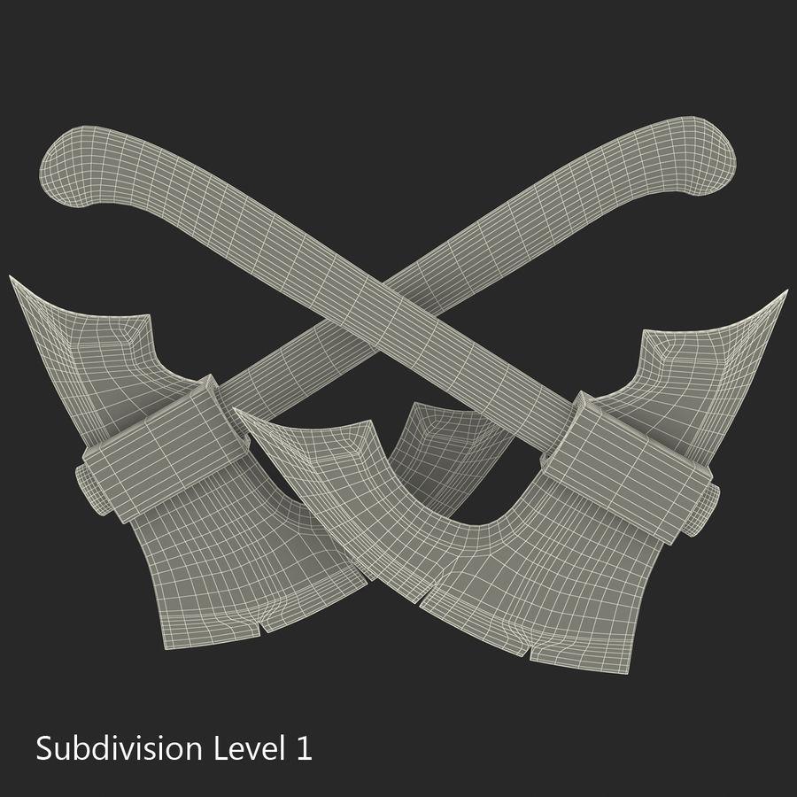 Battle Axe Modèle 3D royalty-free 3d model - Preview no. 15