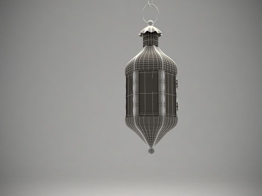 Purple Moroccan Candle Lantern royalty-free 3d model - Preview no. 6