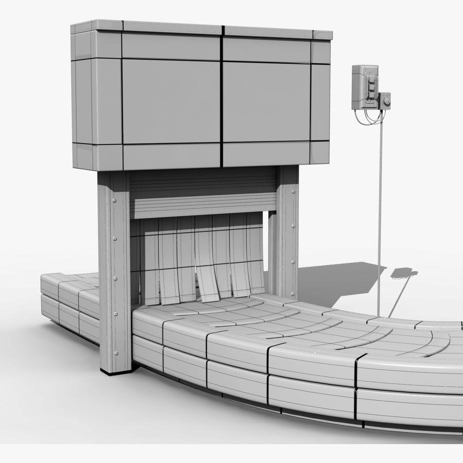 Karuzela lotniskowa royalty-free 3d model - Preview no. 6