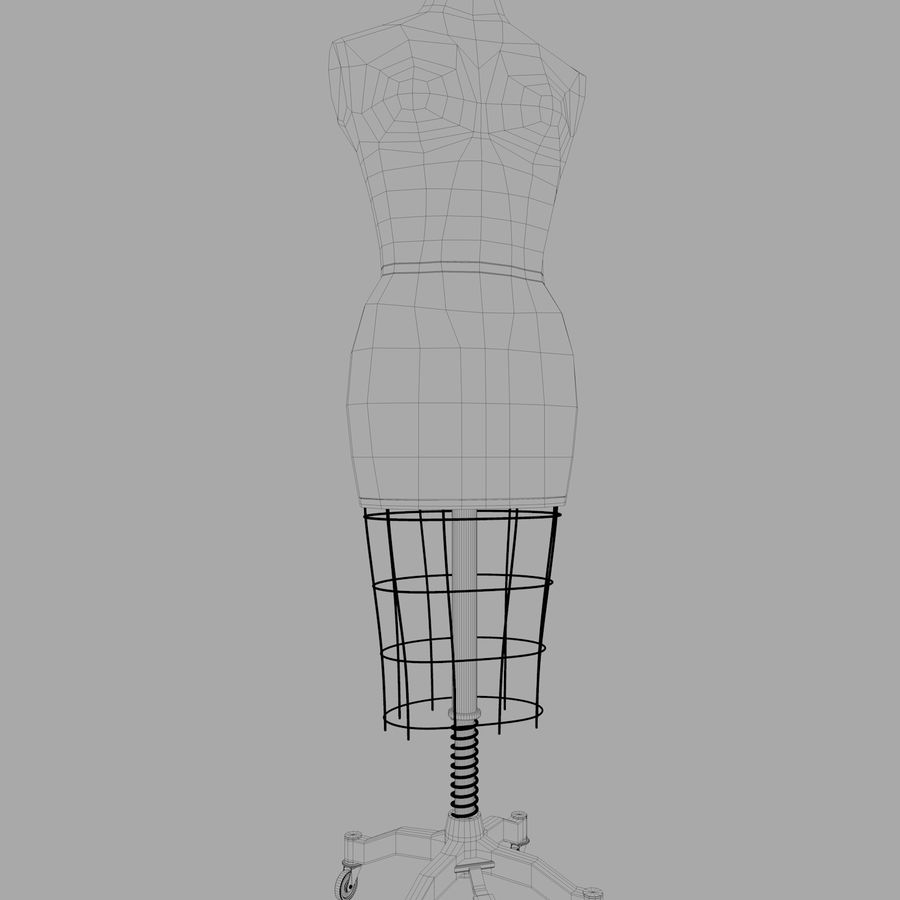 Manichino Donna royalty-free 3d model - Preview no. 7