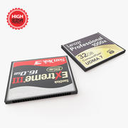 Compact Flash Cards 3d model