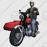 Motocycle_Sidecar 3d model