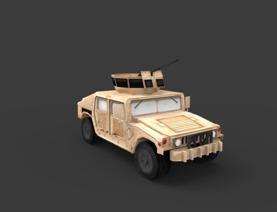 Military Vehicle Set royalty-free 3d model - Preview no. 4