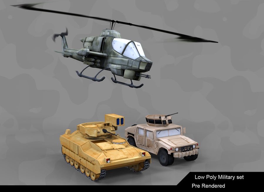 Military Vehicle Set royalty-free 3d model - Preview no. 1