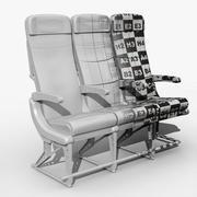 Asiento del aeroplano modelo 3d